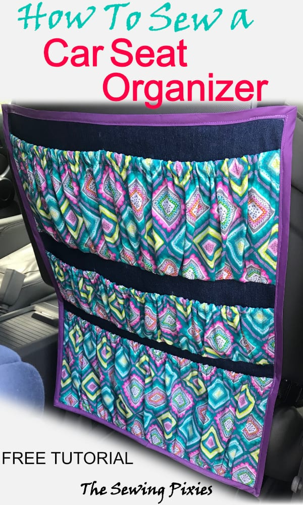 How To Sew A Car Seat Organizer Easy Diy Project Agnes Creates